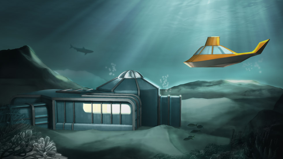 Concept visual / Ext. The Underwater House