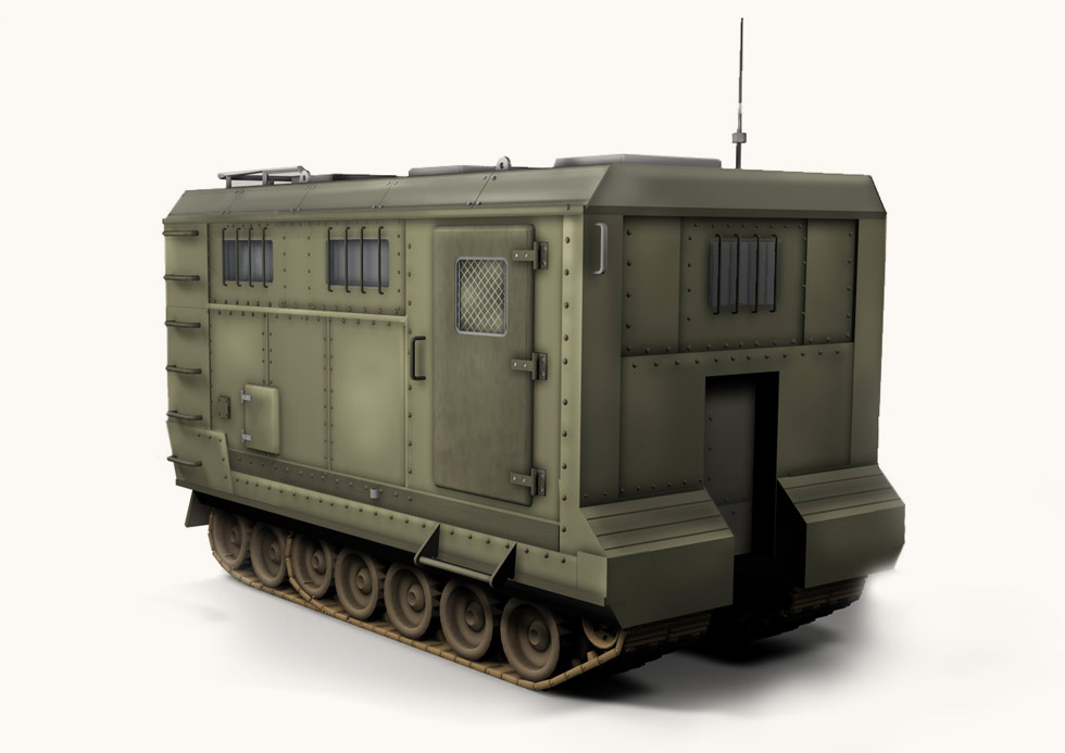 3D-sketch. The military vehicle.
