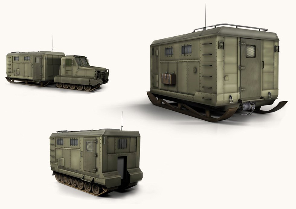 3D-sketches. The Military Vehicle.