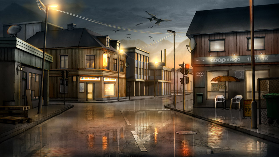 Concept visual / The small town / Night
